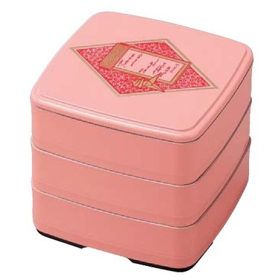【 お重 重箱 おせち 正月 】5.0寸竹重 さくら折鶴 3段 【厨房館】