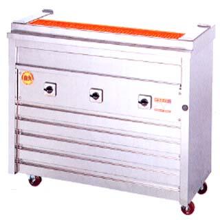 【 業務用 】ヒゴグリラー 焼き鳥焼き機 焼鳥専用タイプ床置型 3P-208K【 メーカー直送/後払い決済不可 】