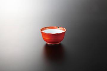 和食器 朱巻萩 3.0鉢(強化) 35K090-09 まごころ第35集