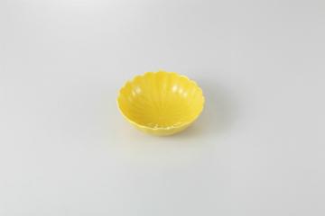 和食器 黄釉 菊型鉢 35K083-14 まごころ第35集