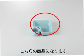 和食器 青地 L型鉢 35K086-34 まごころ第35集