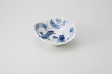 和食器 藍彩 片切変形向付 35K042-20 まごころ第35集 【キャンセル/返品不可】【厨房館】