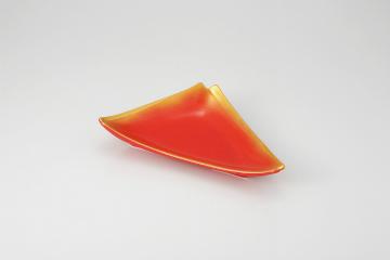 【まとめ買い10個セット品】和食器 赤釉金吹 重ね三角皿 36K032-10 まごころ第36集 【キャンセル/返品不可】【厨房館】