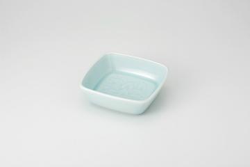 【まとめ買い10個セット品】和食器 青白瓷 唐草5.0角鉢 35Q051-04 まごころ第35集 【キャンセル/返品不可】【厨房館】