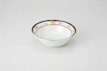 和食器 赤絵金彩渕サビ 4.0寸鉢 35H052-05 まごころ第35集