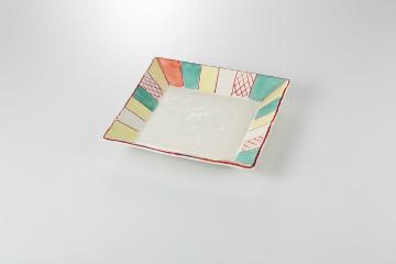 【まとめ買い10個セット品】和食器 紙風船 正角皿(大) 35K130-07 まごころ第35集 【キャンセル/返品不可】【厨房館】