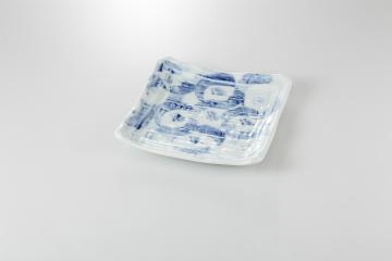 【まとめ買い10個セット品】和食器 藍彩 正角盛皿 36K142-01 まごころ第36集 【キャンセル/返品不可】【厨房館】