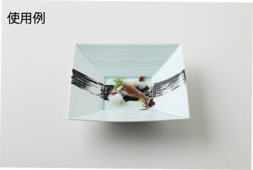 【まとめ買い10個セット品】和食器 青磁マット 筋彫正角6寸皿 35K130-09 まごころ第35集 【キャンセル/返品不可】【厨房館】