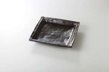 【まとめ買い10個セット品】和食器 さつま黒 7.0正角皿 36K142-09 まごころ第36集 【キャンセル/返品不可】【厨房館】