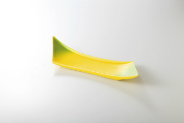 【まとめ買い10個セット品】和食器 黄釉ヒワ吹 剣型付出皿 36K110-14 まごころ第36集 【キャンセル/返品不可】【厨房館】