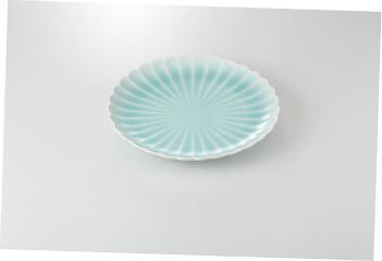 【まとめ買い10個セット品】和食器 青白磁 菊型8.0皿 36K194-14 まごころ第36集 【キャンセル/返品不可】【厨房館】