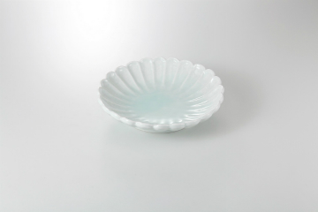 【まとめ買い10個セット品】和食器 青白磁 菊型鉢 36K245-14 まごころ第36集 【キャンセル/返品不可】【厨房館】