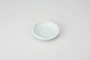 和食器 青磁 菊型小皿 35K185-25 まごころ第35集