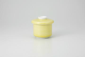 和食器 黄刷毛 むし碗 35K271-12 まごころ第35集 【キャンセル/返品不可】【厨房館】