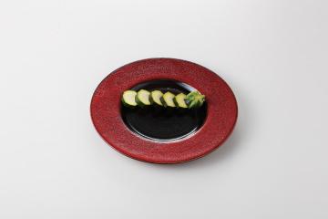 【まとめ買い10個セット品】和食器 赤黒釉彩 リム8.5皿 36K129-13 まごころ第36集 【キャンセル/返品不可】【厨房館】