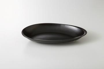和食器 コクーン黒 ベーカーL 35A408-11 まごころ第35集