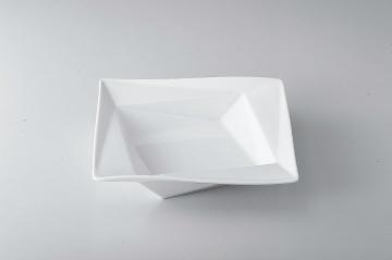 【まとめ買い10個セット品】和食器 折紙(白) 9吋角スープ 35A407-11 まごころ第35集 【キャンセル/返品不可】【厨房館】
