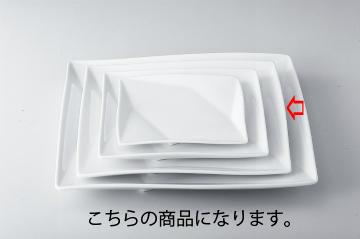 【まとめ買い10個セット品】和食器 折紙 10吋角皿 35A407-04 まごころ第35集 【キャンセル/返品不可】【厨房館】