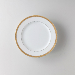 【まとめ買い10個セット品】和食器 ビクトリーゴールド(純白強化磁器) 7半ケーキ皿 36A484-02 まごころ第36集 【キャンセル/返品不可】【厨房館】