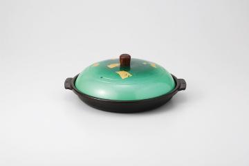 和食器 金彩緑木製ツマミ ミニ深型陶板 35K514-06 まごころ第35集
