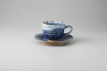 和食器 均窯ブルー コーヒーC/S 35Q482-48 まごころ第35集