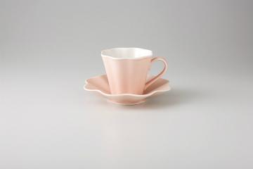 和食器 ピンク 花弁コーヒーC/S 35M485-01 まごころ第35集
