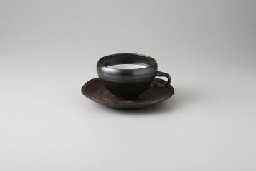 【まとめ買い10個セット品】和食器 黒陶 コーヒーC/S 35M480-11 まごころ第35集 【キャンセル/返品不可】【厨房館】