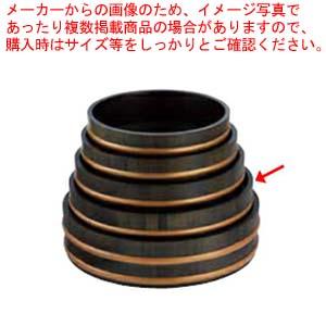 和食器 天然木盛込桶黒彩色 目皿付 尺3 36R526-54 まごころ第36集 【厨房館】