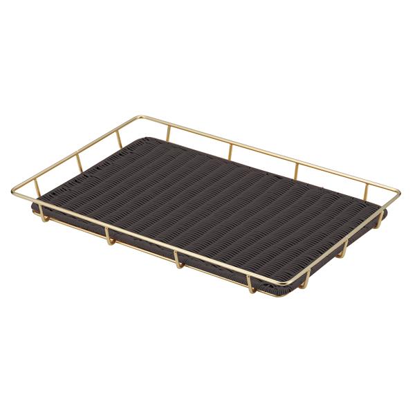 金色スチールパンラック パントレー付 60型 ブラックBB-826-BK 【厨房館】