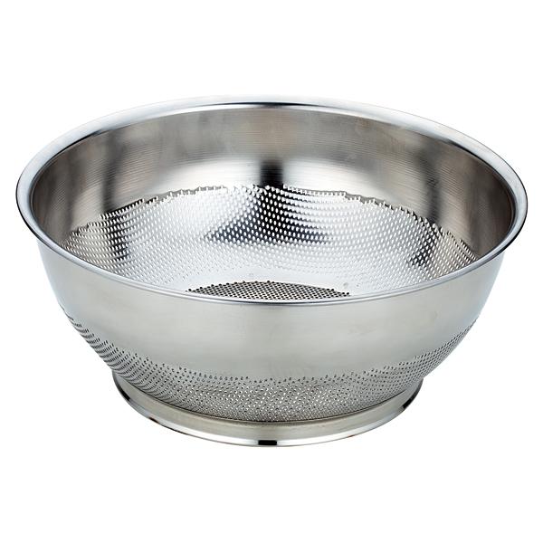 UK18-8パンチング 巾広浅型ザル 37.5cm 【厨房館】