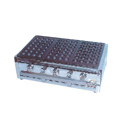 kanda-067297 卓抜 デポー たこ焼ガス台18穴4枚掛 13A 厨房館 ET-184