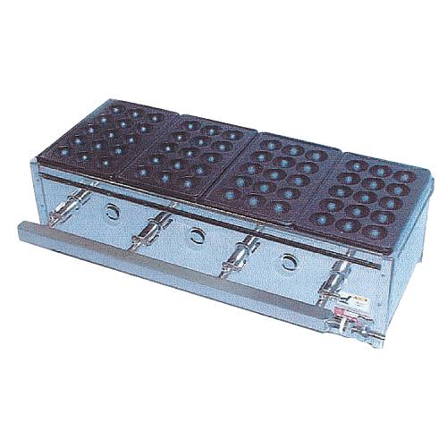 たこ焼ガス台(関東型)15穴4枚掛 LP ET-154 【厨房館】