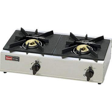 リンナイ 2口ガステーブル スタンダードタイプ [RSB-206A] 【厨房館】