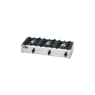 【 業務用 】リンナイガステーブル3口 立消え安全装置付 RSB-306SV