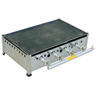 【 業務用 】TS-75 プレス鉄板焼 ガスグリドル セット 13Aガス 750×450×200