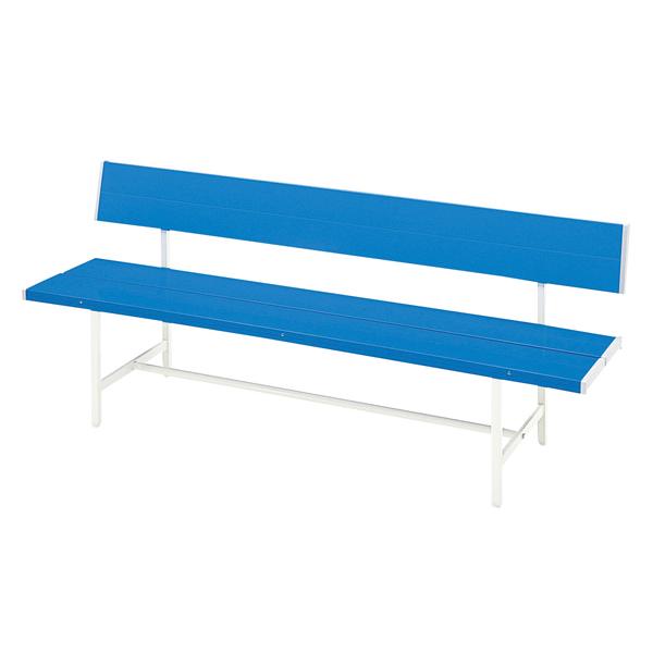 カラーベンチ〔背付〕〔ブルー〕【 椅子 洋風 カフェチェア 】【メーカー直送品/代引決済不可】