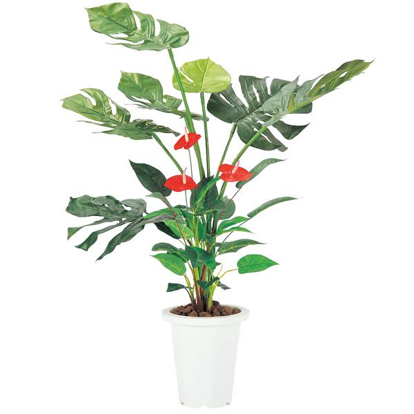 モンステラ&アンスリューム G-MS【 花 観葉植物 造花 】【受注生産品】【 メーカー直送/後払い決済不可 】
