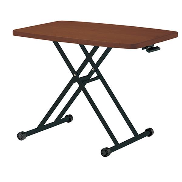 ガス圧リフトテーブル〔ブラウン〕 LFT-TK900〔BR〕【 テーブル 食堂用テーブル リフティングテーブル 昇降式 】【 メーカー直送/後払い決済不可 】