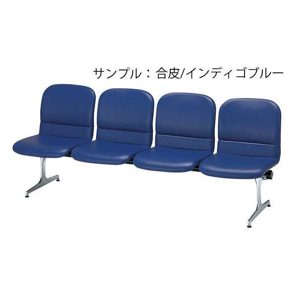 ロビーチェア〔4人用〕〔ブラウン〕 RD-54〔合成皮革/ブラウン〕【 椅子 洋風 オフィスチェア ベンチ 】【受注生産品】【 メーカー直送/後払い決済不可 】