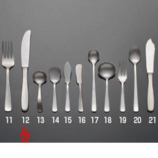 【まとめ買い10個セット品】 【 業務用 】KYS18-8 ライラック テーブルナイフ(最中柄)