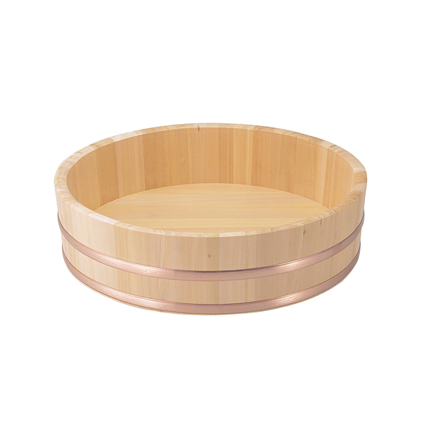飯台(すし桶)さわら材 (銅タガ) 《外寸》 84cm 【厨房館】