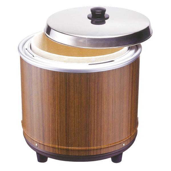 エバーホット 湯煎式電気びつ(木目) NV-25(すし用) 【厨房館】