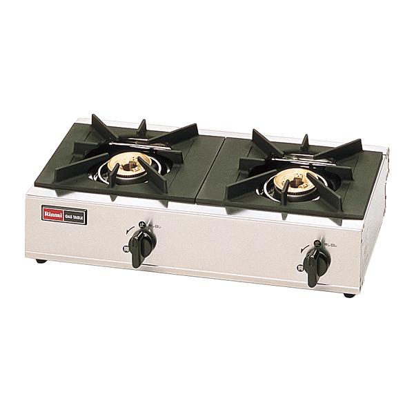 リンナイ 2口ガステーブル RSB-206SV(立消安全装置付) LP 【厨房館】