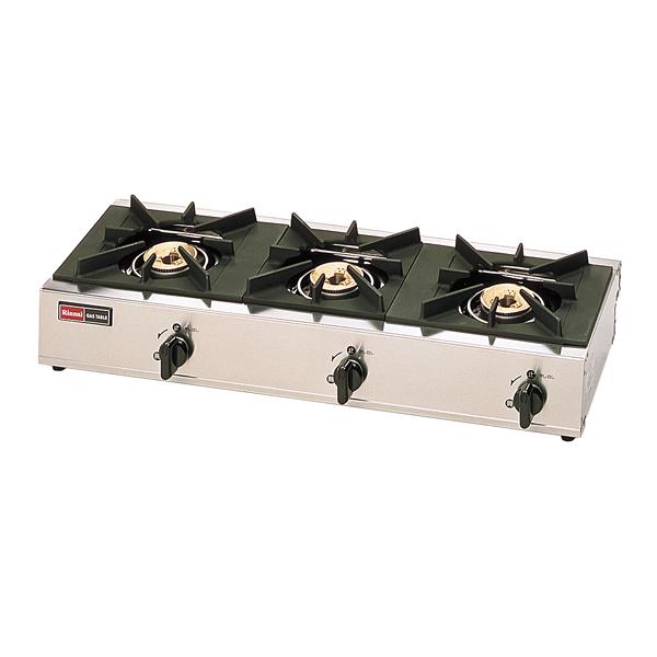 リンナイ 3口ガステーブル RSB-306SV(立消安全装置付) LP 【厨房館】