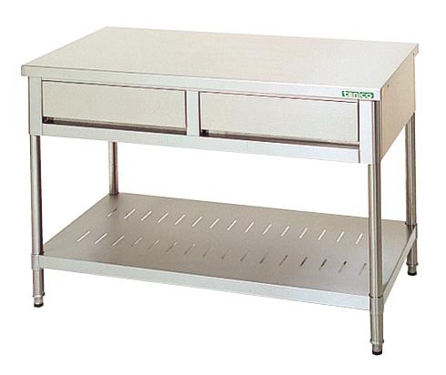 引出付作業台(バックガードなし) TX-WT-150BDW 【厨房館】