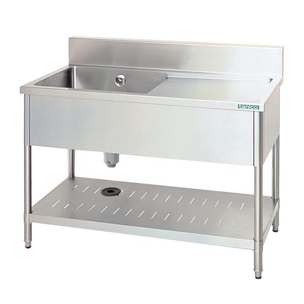 水切付一槽シンク (水切台右付) TX-1SL-120 【厨房館】