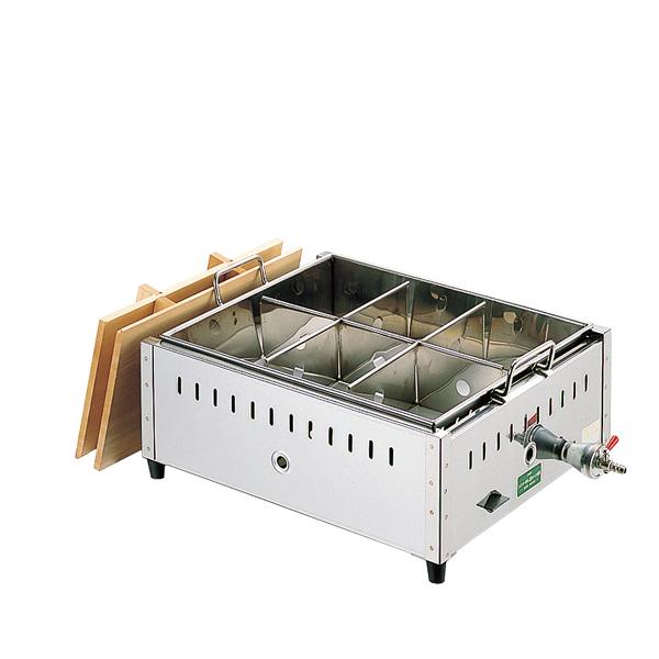 18-8 直火式関東煮鍋(マッチ点火) 尺4 13A 【厨房館】