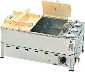 湯煎式 酒燗付おでん鍋(自動点火・立消え安全装置付) KOT-2-L 13A 【厨房館】