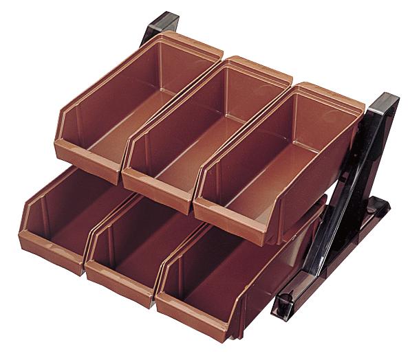 BK オーガナイザー 2段3列 O-2-3-B ブラウン 【厨房館】