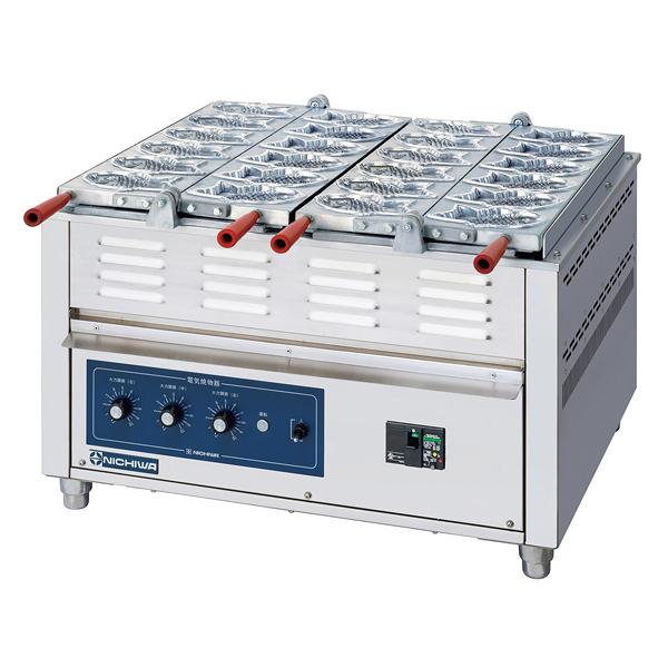 電気重ね合わせ式焼物器 NG-3(3連式) たい焼 【厨房館】
